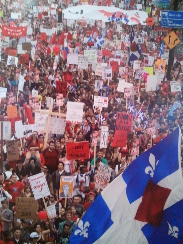 Photo de la manif des étudiants à Montréal