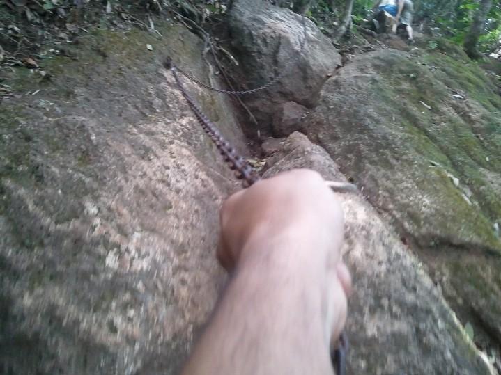 La piste de xapatan ou fort boyard... Je disais vrai en parlant d'escalade