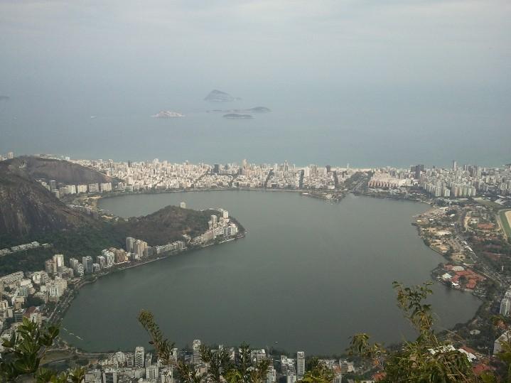 Le lagon Rodrigo vu de Corcovado