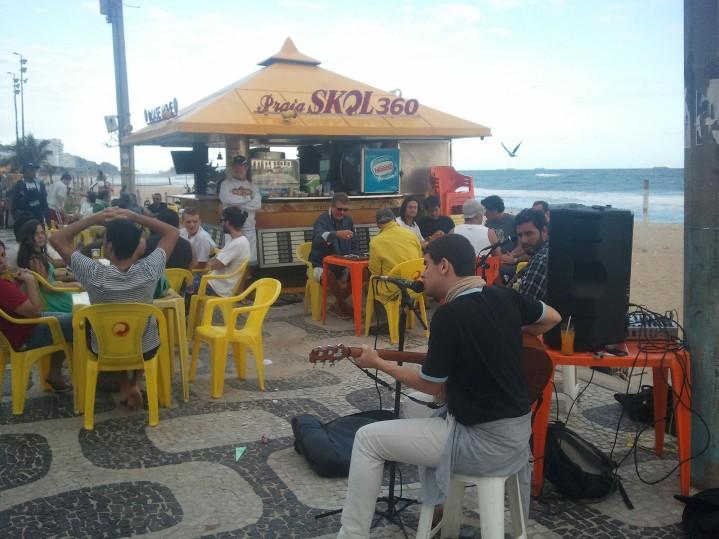 Concert sur la plage d'Ipanema