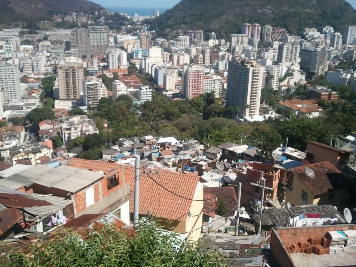 Rio vu du haut des favelas