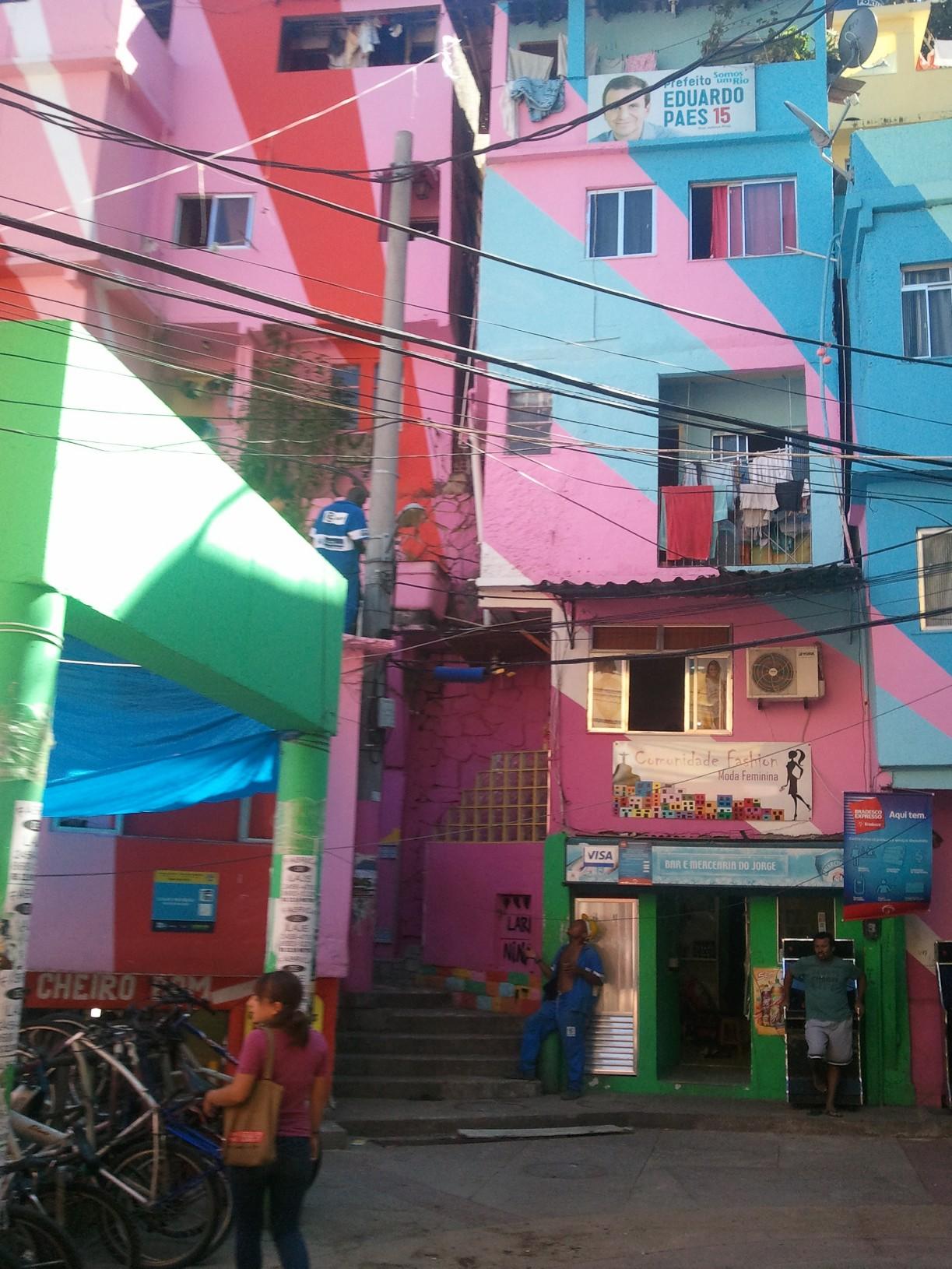 L'entrée des favelas