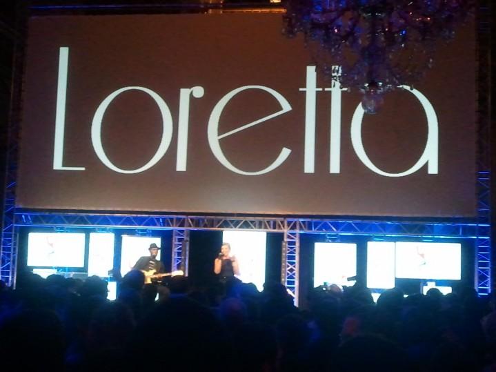 Loretta sur scène
