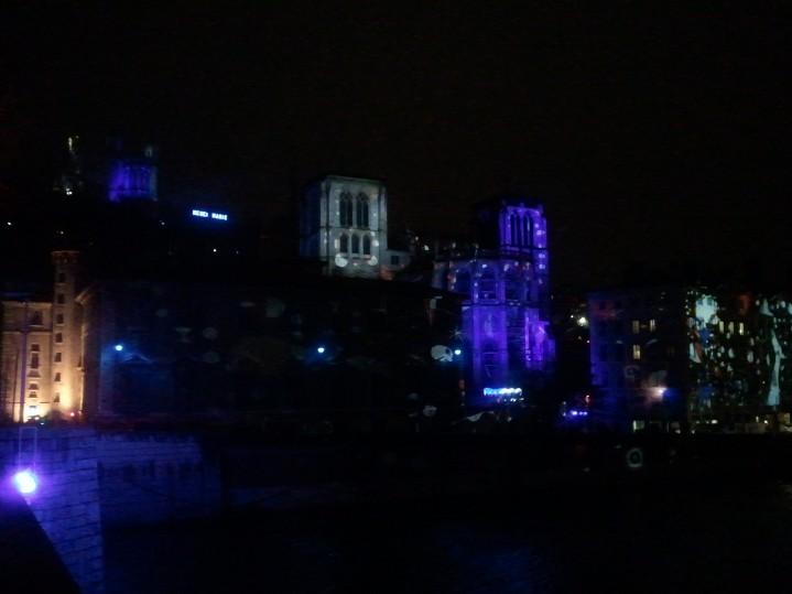 Vue de la saône - Fête des lumières Lyon 2012