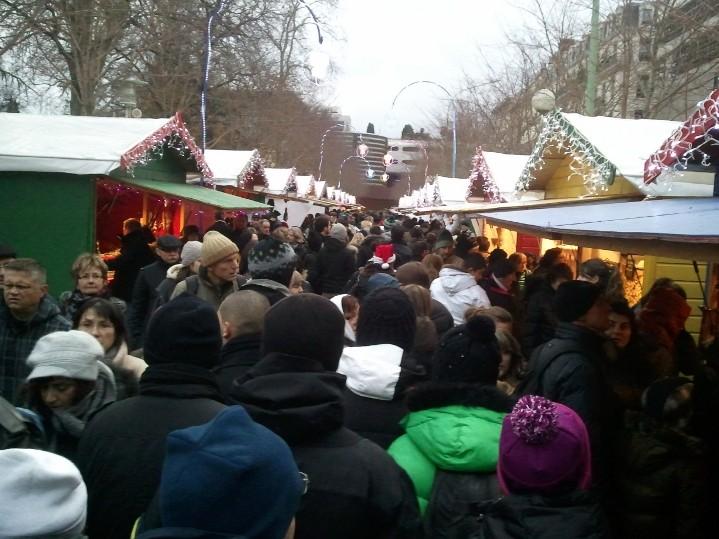 Le marché de noël à Perrache - Fête des lumières Lyon 2012