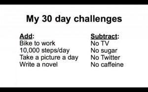 Comment pimenter sa vie et casser la routine ? Essayer quelque chose de nouveau pendant 30 jours