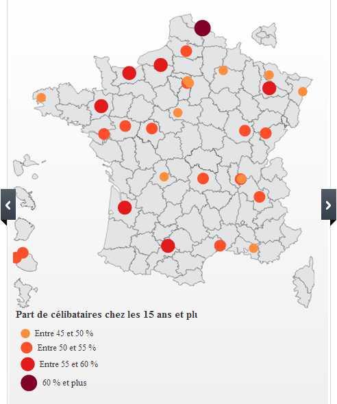 Mes 10 raisons de vous sentir joyeusement célibataire, célibat en France, carte du célibat