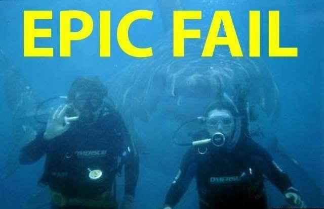 J'ai peur de l'échec et je manque de confiance en moi : Le COMBO breaker ! Epic fail, fail photo requin, fail plongée, fail requin