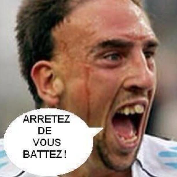 """Avis """"Ne me dites plus jamais bon courage !"""", Ribery phrases, Arrêtez de vous battez ribery"""