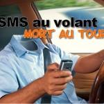 Envoyer des sms au volant, sms au volant mort au tournant, sms accident de la route, prévention routière sms, envoyer des sms peut coûter ta vie et celle des autres