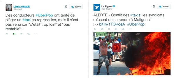Tweet sur les taxis, image uber, image uber taxi,