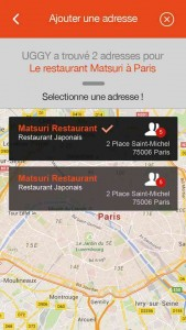 Uggy, application pour trouver des restaurants, application restaurant, application trouver restaurant