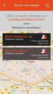 Uggy, application pour trouver des restaurants, application restaurant, application trouver restaurant